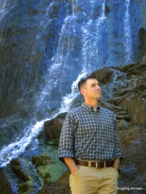 Van taking a stroll at Bridal Veil Falls, Spearfish Canyon, SD. Copyright Georgeann Van Delist, 2014.