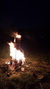 A bonfire tribute for Ross.