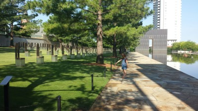 A quiet moment of reflection at the Oklahoma City Bombing Museum.